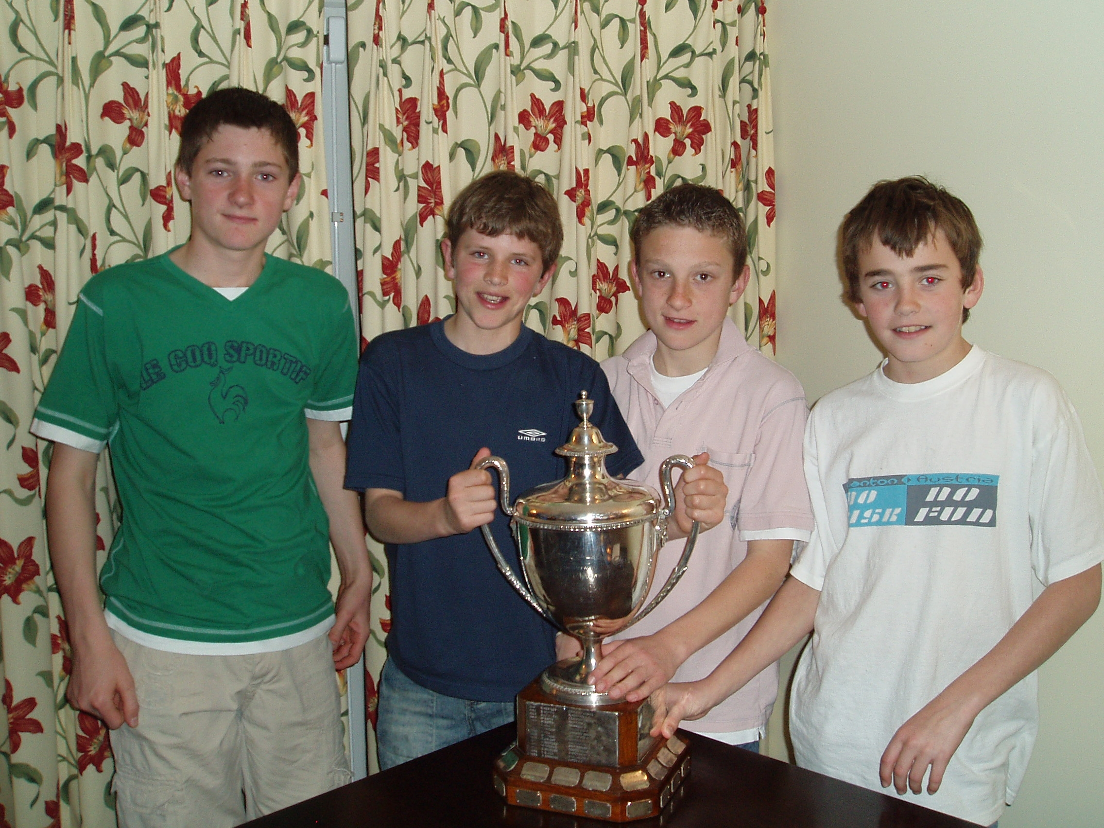 U13 boys with England Trophy